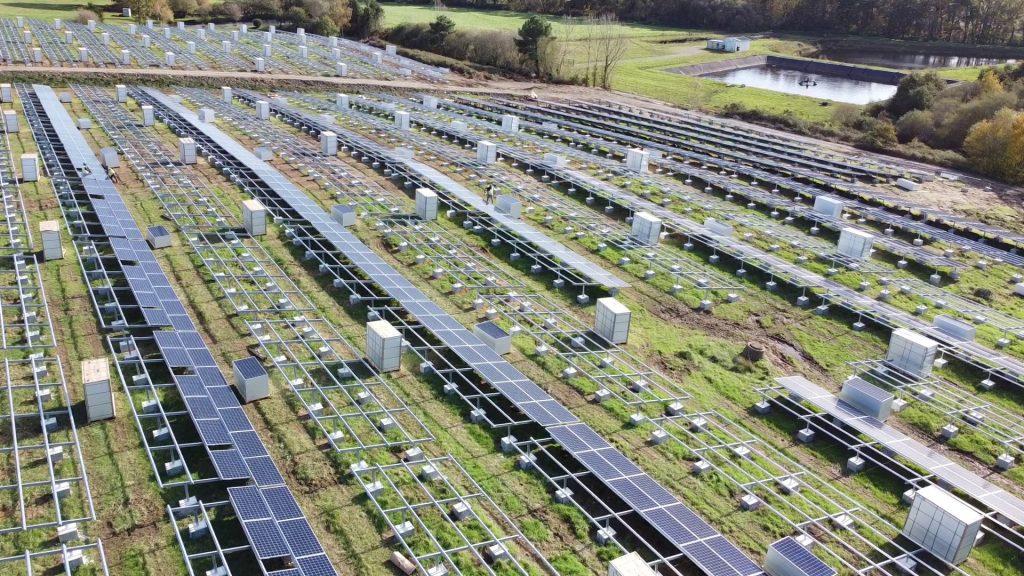 insalação de parque fotovoltaico