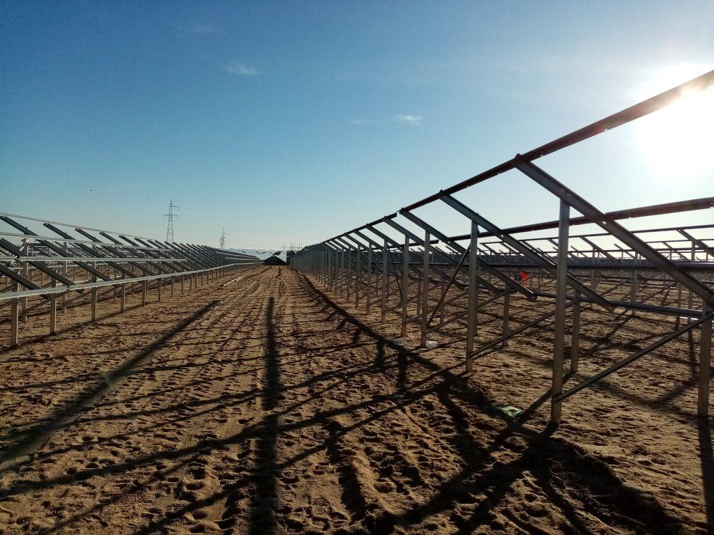 instalação de parque fotovoltaico